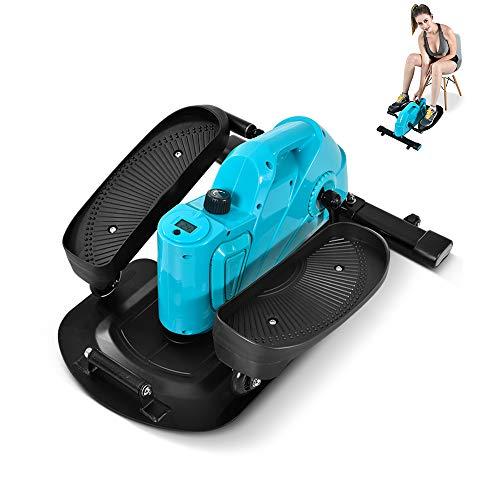 YUSDP Mute Magnetic Under Desk Elliptical Trainer - Elliptical Trajectory Design LED-Anzeige, platzsparend - Tragfähigkeit 220 kg, Fitness Fully - für das Home Office -