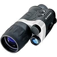 Bresser monokulares Nachtsichtgerät NightSpy 3x42 vollvergütet mit Stativanschlussgewinde und Infrarotstrahler zur Beobachtung bei völliger Dunkelheit inklusive Gürteltasche