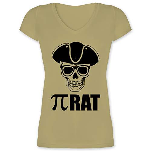 Nerds & Geeks - (PI) Rat - 3XL - Olivgrün - XO1525 - Damen T-Shirt mit V-Ausschnitt