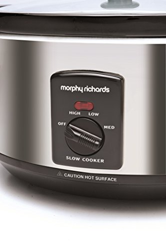 41gf1dmW3WL - Morphy Richards 48715A Oval Slow Cooker, 6.5L - Silver