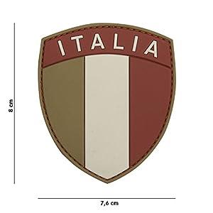 Patch 3D PVC Bouclier Drapeau Italia Multicam / Cosplay / Airsoft / Camouflage