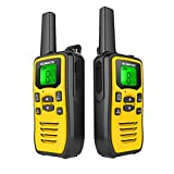 Professional Rechargeable Walkie Talkies for Adult, Two Way Radio 8 Channels 121 Subchannel