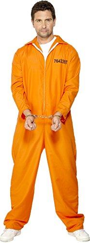 ohener Häftling Kostüm, Overall, Größe: L, 29535 (Orange Overall Kostüm)