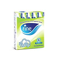 ‏‪Fine Fluffy Facial Tissues - Pack of 10 Boxes (10 x 200 Sheets x 2 Ply)‬‏