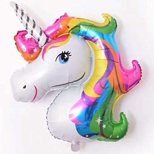 DDGE DMMS - Globo con Forma de Unicornio arcoíris para decoración de Bodas, decoración de hogar, Cocina, etc.