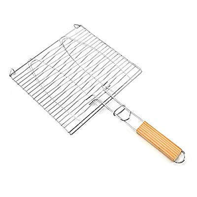 Carremark Hamburg Grilled Fish Clip Barbecue Net BBQ Tool for Outdoor Camping Picnic