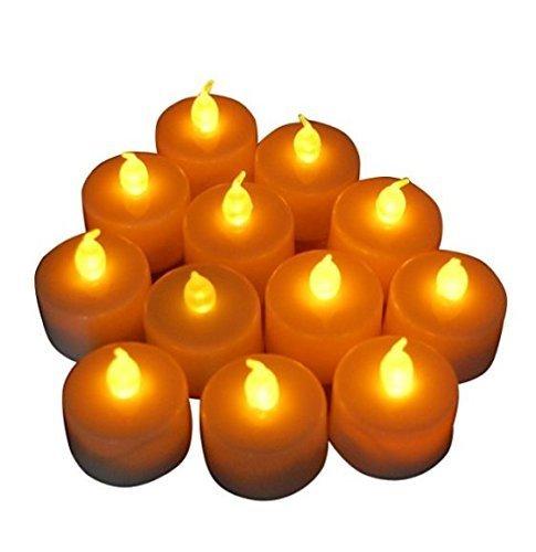 en Lampe Batteriebetriebene flammenlose LED Teelicht Votiv (gelb, 12St.) ()