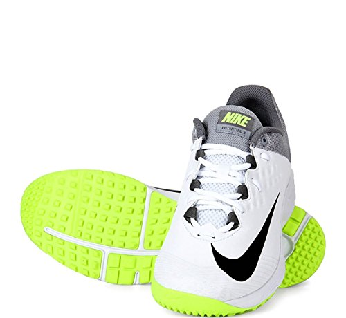 Nike Potential 3 Men's White Synthetic Cricket Shoes – 9 UK