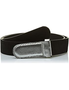 Calvin Klein Damen Gürtel Metallic Leather Buckle Belt
