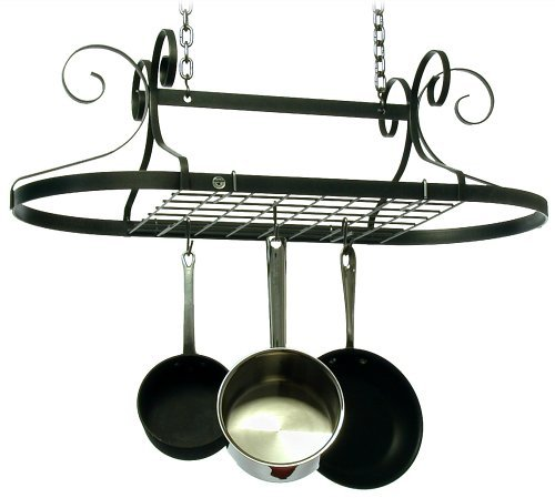 Enclume Oval Pot Rack (Enclume Decor Oval, Ceiling Pot Rack, Hammered Steel by Enclume)