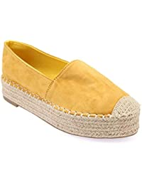 Baskets jaune moutarde bi matière à bout rond Jaune Jaune