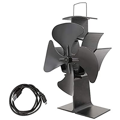 Lincsfire Heat Powered 4 Blade Stove Fan for Fireplace Eco Friendly and Efficient Heat Circulation