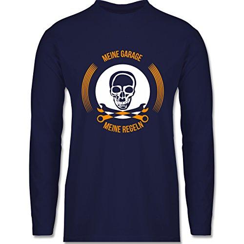 Shirtracer Statement Shirts - Meine Garage Meine Regeln - Herren Langarmshirt Navy Blau