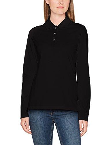Trigema Damen 5216531 Poloshirt, Schwarz 008, Large