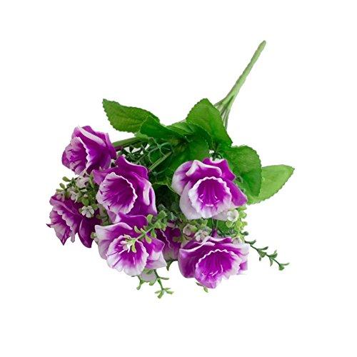 Homeofying 1 Bouquet Künstliche Gefälschte Babysbreath Narzisse Blume Pflanze Home Office Decor Light Purple (Blume Office-pflanze)