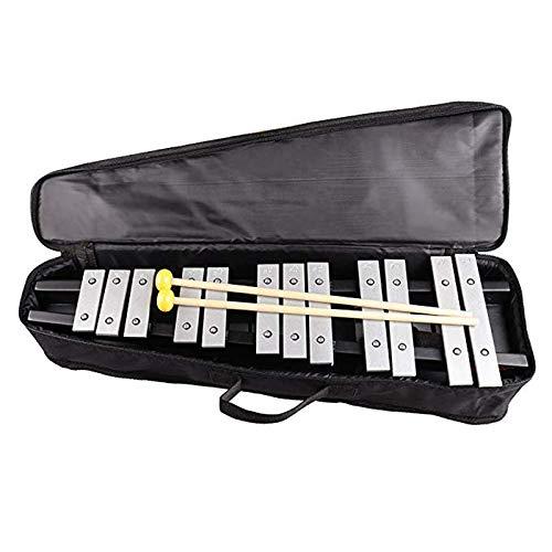 ARFYQ6 30 Sound Faltbare Glockenspiel Xylophon Holzrahmen Percussion Musical mit Eisen Klaviertasche mit Deluxe Soft Carry Case Musical Kinder Spielzeug Spielzeug für alle Altersgruppen Deluxe Soft Case