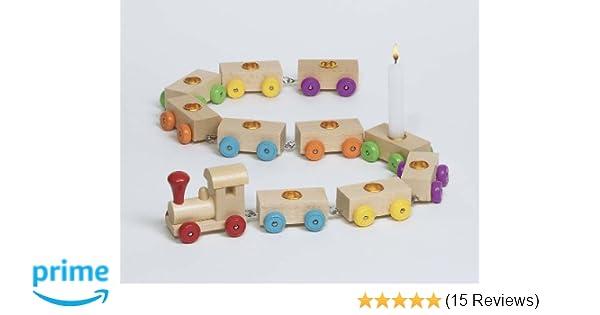 B-WARE Geburtstagszug aus Holz incl 5 Waggon