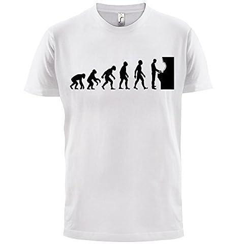 T-shirt geek Evolution of Man - motif jeu d'arcade - homme - 10 coloris - Blanc - XL