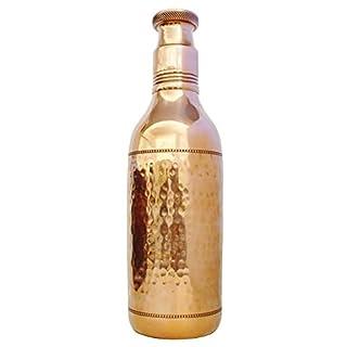 AVS STORE ® Reisende 100% Reines Kupfer Luxus Wasser Flasche für Gesundheit Vorteile Wunderschöner Designer-Wasser Lang Krug Flasche