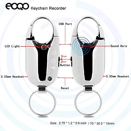 Schlüsselbund Digitaler Diktiergerät,sprachaktiviertes Audiorecorder mit Wiedergabe,Audiorecorder für Vorlesungen Tagungsveranstalter Interview Musik