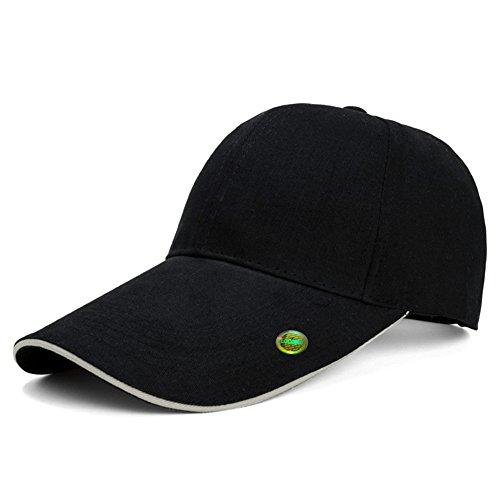 b4a907d2 LOCOMO Hats - Gorra de béisbol - para Hombre Negro Black with Stripe at Brim  Talla