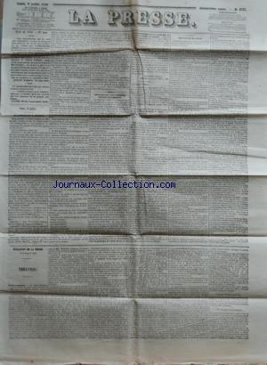 PRESSE (LA) [No 4772] du 24/07/1849