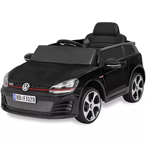 RC Auto kaufen Kinderauto Bild: SENLUOWX Kinderauto Elektroauto VW Golf GTI 7 schwarz 12 V Kinderfahrzeug Kinderauto mit Fernbedienung*