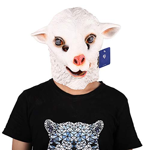 Halloween Masken Scary Latex Maske Creepy Costume Mask Fasching Festival Karneval Kostüm Party Schafe Maske Cosplay Dekoration Accessoires Horrormaske Herren Damen