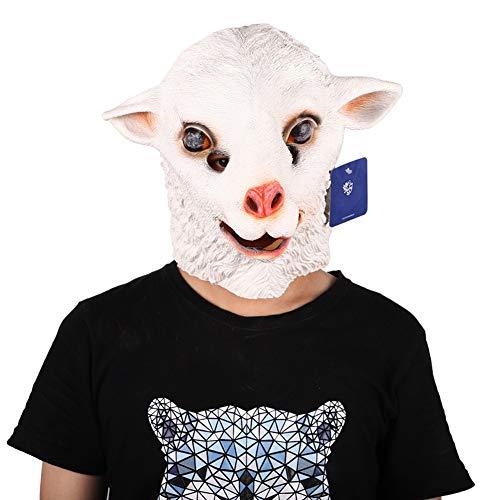 Halloween Masken Scary Latex Maske Creepy Costume Mask Fasching Festival Karneval Kostüm Party Schafe Maske Cosplay Dekoration Accessoires Horrormaske Herren - Einfach Schaf Kostüm
