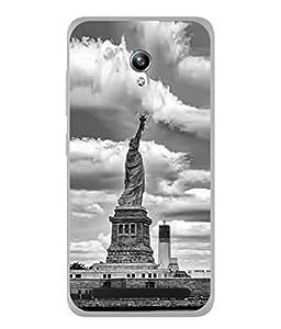 PrintVisa Designer Back Case Cover for Asus Zenfone Go (Antique view statue of liberty)
