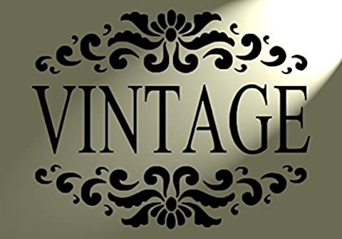style VINTAGE Shabby Chic rustique style pochoir en Mylar A4