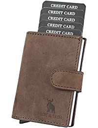 8de8527334e79 HIDE   SKIN 100% Genuine Leather RFID Blocking Men s and Women s Card Holder