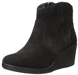 Crocs Leigh Suede Women Boot in Black