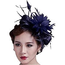 Kapmore Fascinator de la flor la pinza de pelo del banquete de boda Celada Sombrero pillbox