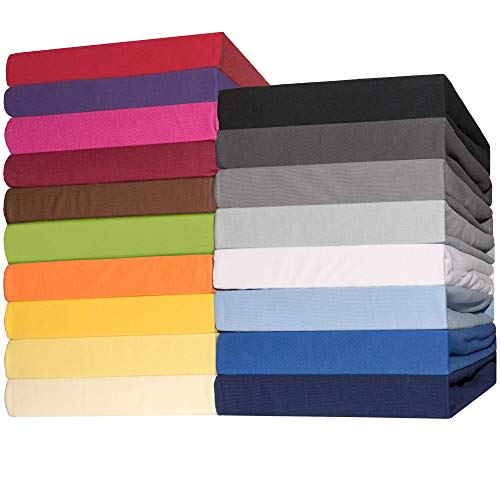 CelinaTex Lucina Spannbettlaken 180×200 – 200×200 dunkel blau Jersey Baumwolle Spannbetttuch Doppelbett Matratzen 0002809 - 2
