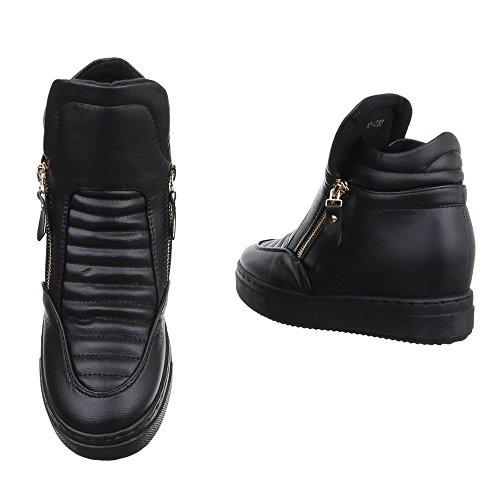Ital-Design - Pantofole a Stivaletto Donna Schwarz XY-232