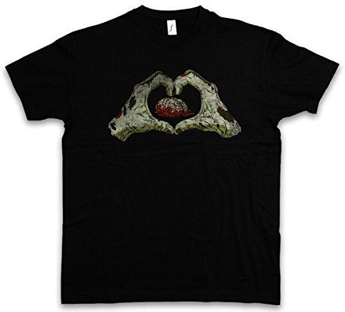 Urban Backwoods Zombie Heart T-Shirt - Taglie S - 5XL Nero