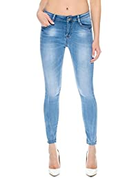SIMPLY CHIC Womens Bootcut Jeans Denim Stretch Blue Flare
