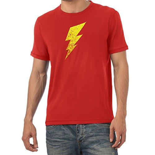 Flash - Herren T-Shirt, Größe L, Rot ()