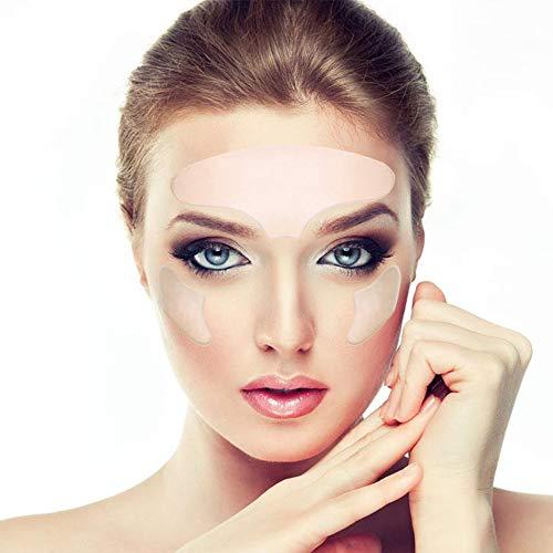 MS.DEAR Anti-Falten Gesichts-Patches, Silikon-Augenklappe, Augen-Falten-Abflachung-Patches, Stirn-Anti-Falten-Gesichtspads für Frauen und Männer -