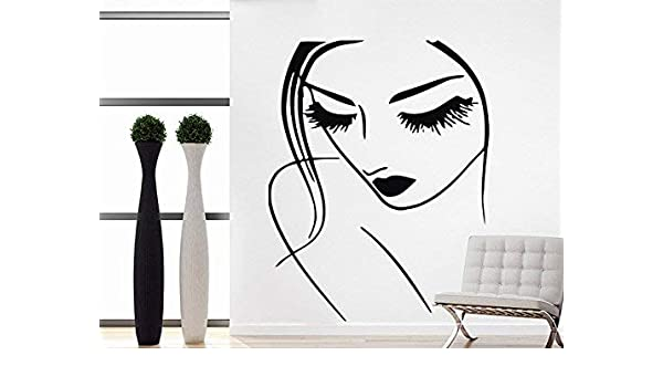 Wall Stickers Beauty Salon Girls Bedroom Lady Art Decals Vinyl Home Room Decor