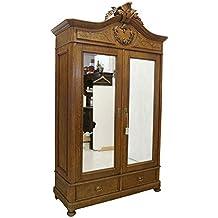 Schrank Kleiderschrank Spiegelschrank Antik Um 1900 Aus Eiche B 140 Cm 8717