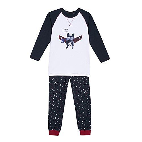 IKKS Underwear Long ML, Ensemble de Pyjama Garçon, Bleu (Dark Navy), 6 Ans (Taille Fabricant: 6A)