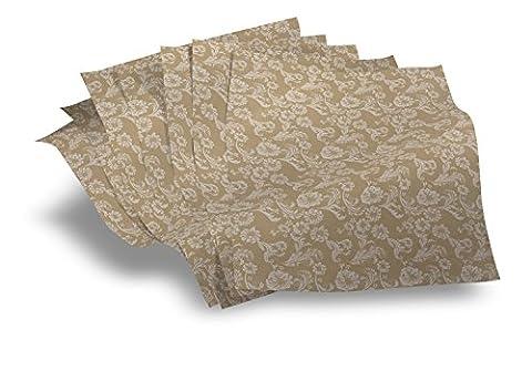 Papier sulfurisé - Damask Motif Papier PK 250 feuilles (format