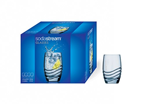 SodaStream Trinkgläser, Glas, transparent, 4 x 330 ml