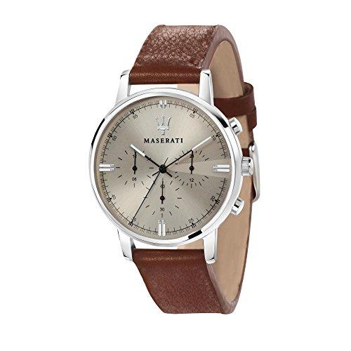 MASERATI Orologio Cronografo Quarzo Uomo con Cinturino in Pelle R8871630001