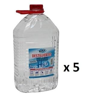 25 Liter Destilliertes Wasser (5 Kanister mit je 5 Litern)