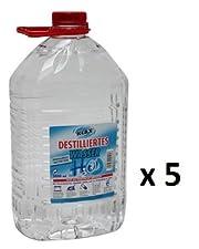 In diesem Angebot erhalten Sie fünf 5-Liter Kanister Destilliertes Wasser von Klax, welches der VDE 0510 Norm entspricht.
