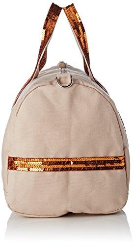 Vanessa Bruno - Cabas Gym Bag Coton Et Paillettes, Borse Bowling Donna Beige (Chair/ocre)