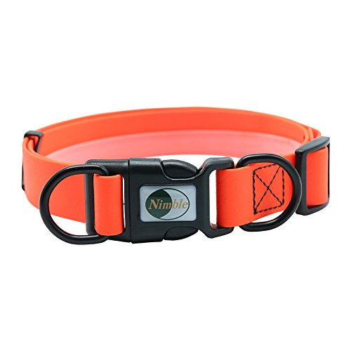 Nimble verstellbar Pet Halsband, PVC Wasserdicht Deodorant Farbe Orange Hund Katze Riemen.